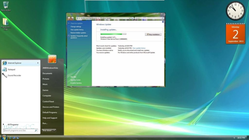 Windows vista iso: download vista ultimate sp2 32 bit & 64 bit.