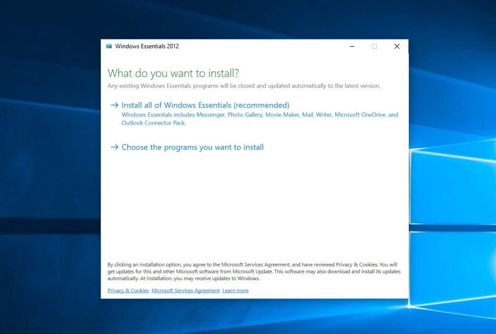 where to download Windows Essentials 2012