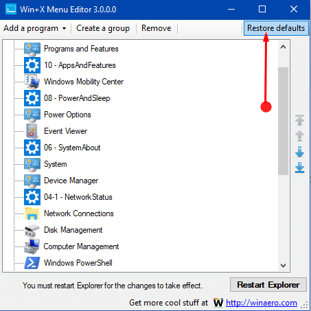 How to Use Win+X Menu Editor v3.0 in Windows 10