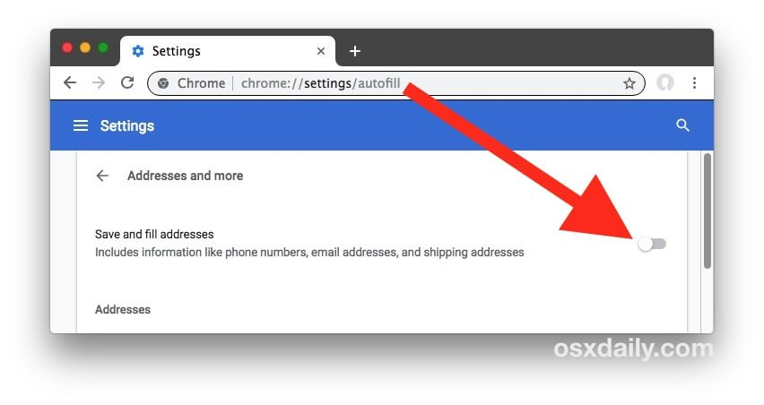 Remove Google Chrome Autofill Entries Individually or All at once