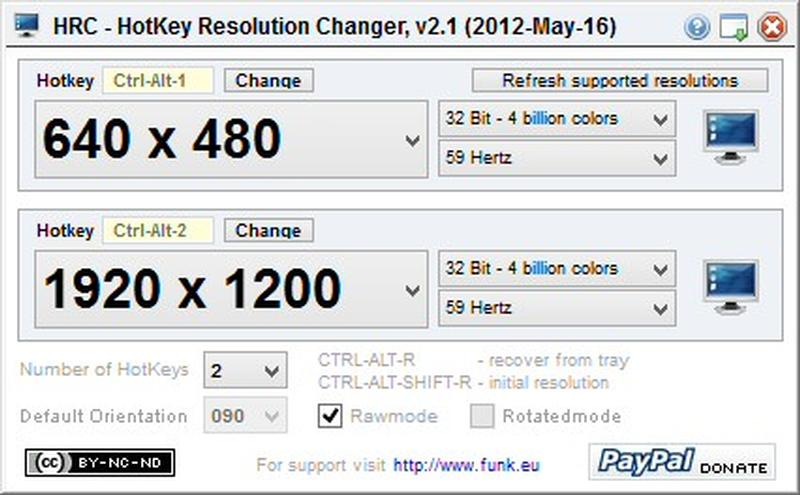 Change Screen Resolution Using hotkey resolution changer in window 10