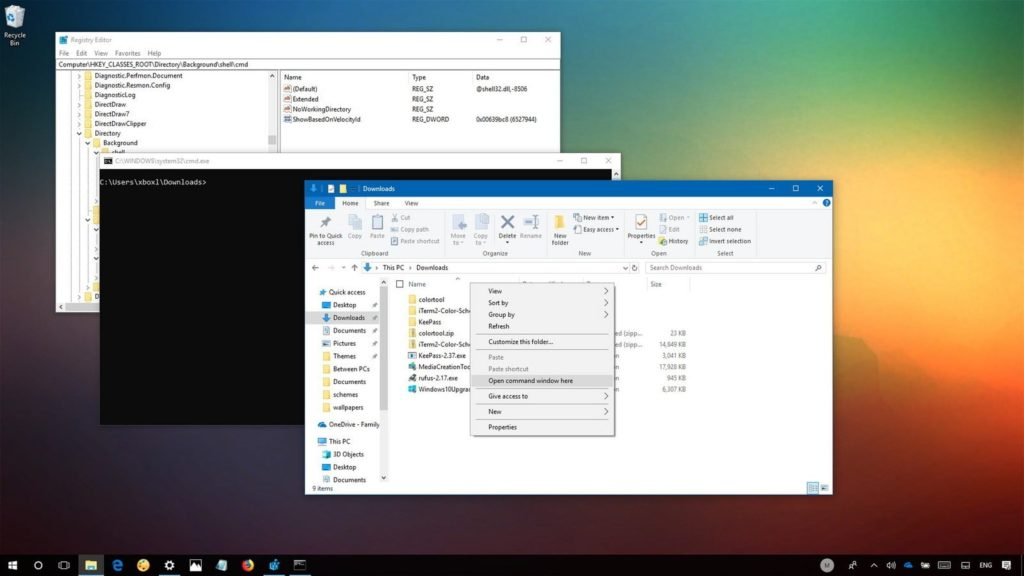 what is Ways to open Command Prompt in a folder in Windows 10
