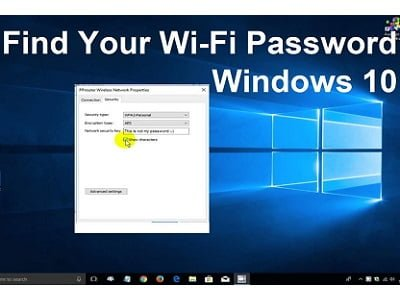Find Wi-Fi passwords in Windows 10