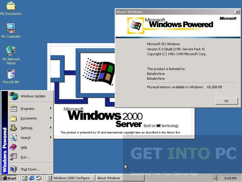 Where can I download the Windows 2000 64-bit preview ISO