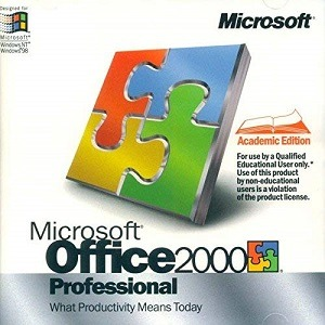 Microsoft Office 2000 Professional Download for free