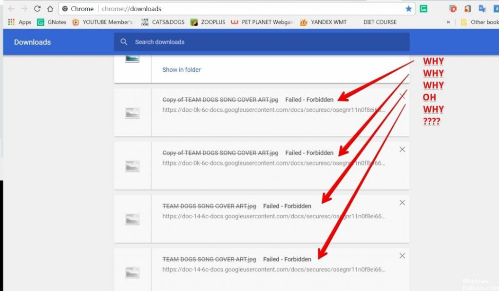 How to fix google drive download error