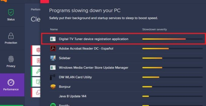 How to remove or fix digital tv tuner device registration application